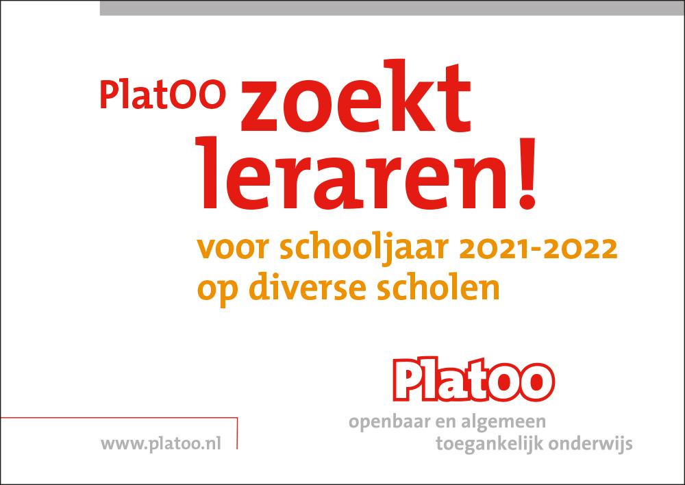 PlatOO zoekt leraren 2021-2022